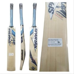 Long Handle Natural Spartan English Willow Cricket Bat, Bat Size: Full Size
