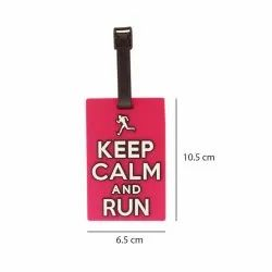 Luggage Tag Keep Calm And Run - Pink (6LNT64)