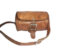 Buckle Closure Round Leather Bag