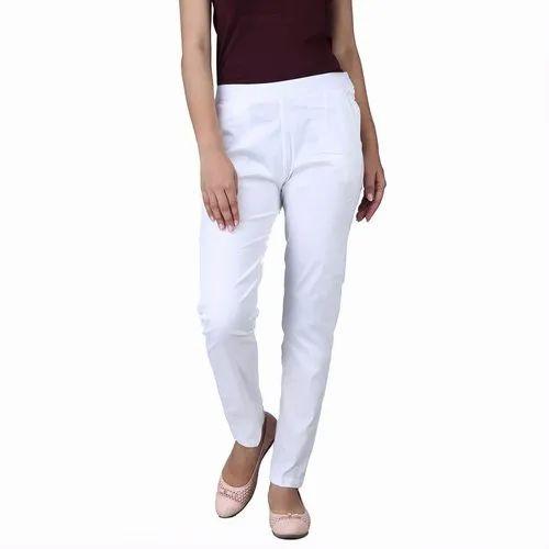 Multicolor Poplin Lycra Cotton Pant