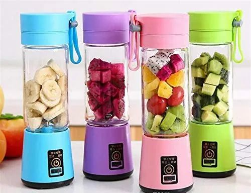 Stainless Steel Portable Rechargeable USB Juicer Bottle, Capacity: 380ML