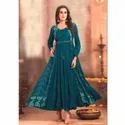 Ladies Party Wear Cotton Gown