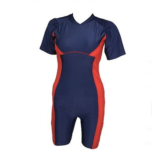 b221eaf6a837e Dive Navy Blue And Red Ladies Swimming Suit ( Lycra, Rs 535 /piece ...