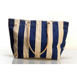 Rope Handle Fancy Cotton Bag, Capacity: 5-10 Kg