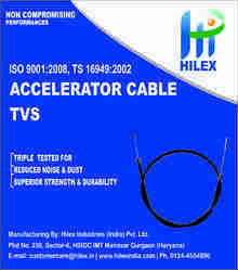 Hilex 1-2 Meter ACC Cable TVS, Packaging Type: Packet, For Automobile