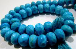 Rare Blue Turquoise Faceted Beads