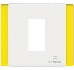 Havells Lemon Yellow Switch plate, Switch Size: 1 Module, for Home