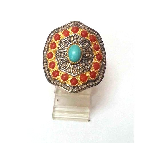 Anmol Exports Gemstone Ring, Packaging Type: Box