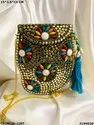 Stylish Designer Metal Mosaic Clutch