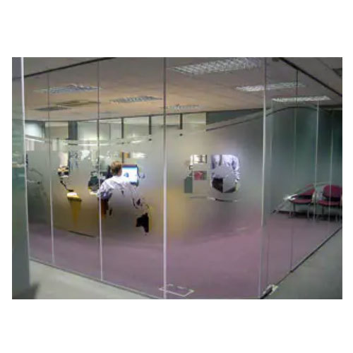 White Transparent Toughened Glass Wall, Shape: Flat