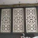 Rectangular White Grc Jali