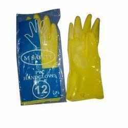 Plain PVC Unsupported Hand Gloves, Finger Type: Full Fingered