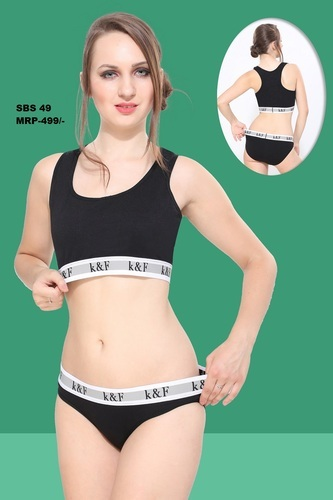 eb3ff52e97 Jockey Black White Sport Bra Set