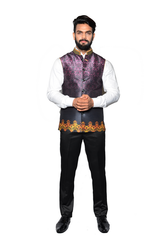 Men Printed Jawahar Cut Jacket CPS167