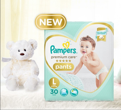 Pampers Premium Care Diaper Pants, Packaging Size: 9-14 Kg, Packaging Type: Packet
