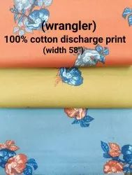 Cotton Discharge Print Shirting Fabrics (Wrangler)