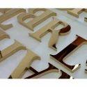 Mirror Finish Brass Letter