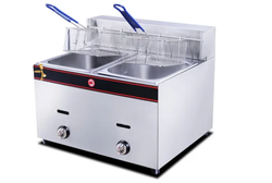 Double Electric & Gas Deep Fryer With Stand