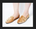 Dech Barrouci Party Wear Glam Brown Slip-ons Ladies Flat Sandal