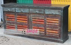 Multicolor Reclaimed Wooden Sideboard Designs