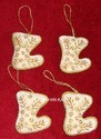 Golden Febric X-mas Hangings Items, Standard Size, Packaging Type: High Class Export Packing