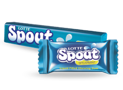 Lotte Spout Spearmint Chewing Gum Mrp 150/-