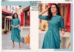 Rachna Art Silk Pattern Cut Work Catalog Kurti For Women