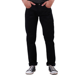 Men Regular Fit Black Denim Jeans