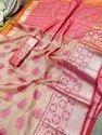 Festive Wear Embroidered Banarasi Saree, 6.3 M (with Blouse Piece)