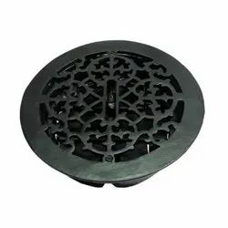 Damaris Black Antique Iron Wall and Floor Register with Cast Iron Louver