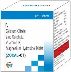 Calcium Citrate, Zinc Sulphate, Vitamin D3, Mag. Hydroxide Tablets