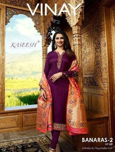 b3235be757 Georgette Embroidered Straight Salwar Suit, Rs 1500 /piece | ID ...