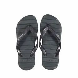 Step Care Casual Men Black Hawaii Slippers, Size: 6-10