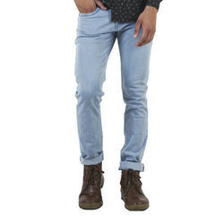 Regular Fit Mens Light Wash Denim Jeans