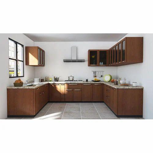 Plywood Modular Kitchen At Rs 12500 Unit Wooden Modular Kitchen Id 15759595348