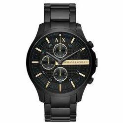 Men Round Armani Exchange Analoge Wrist Watche