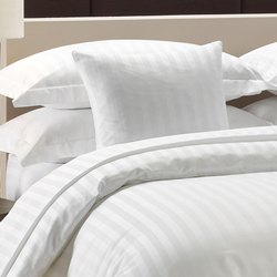 White Cotton Stock Bed Sheets With Single Sheets With Pillow Cover, For Hotel