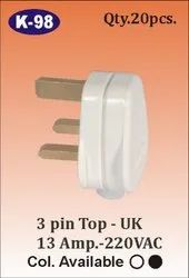 K-98 3 Pin Top 13 AMP Plug