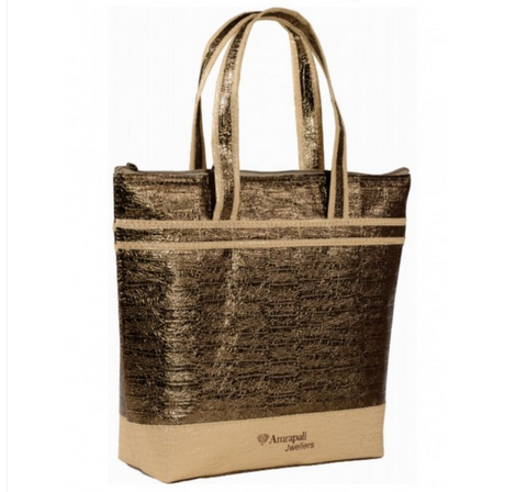 Brown Carry Bag Ladies Amrapali Jewellery