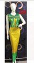 Green And Yellow Colour Indo Western Dress