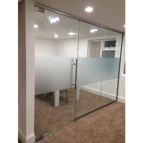 Office Glass Partition, Shape: Rectangular