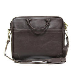 Foam Leather Brown Promotional Laptop Bag