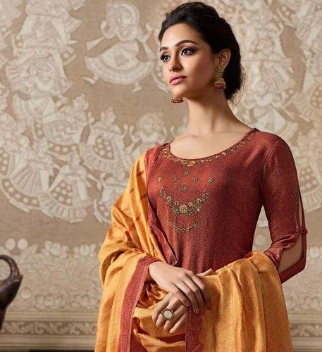 6c519ece91 Omtex Pashmina Embroidered Salwar Suit, Rs 1895 /piece, T J Texo Fab ...