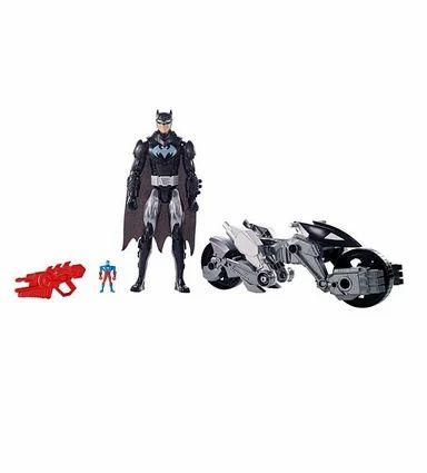 """DC Comics Justice League action 12/"""" Batman and Batcycle"""
