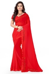 Riva Enterprise Women's Arrival Stone Work Saree