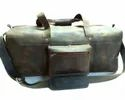 Vintage Leather Hold All Duffel Travel Bag