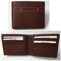 Mens Brown Bifold Leather Wallets