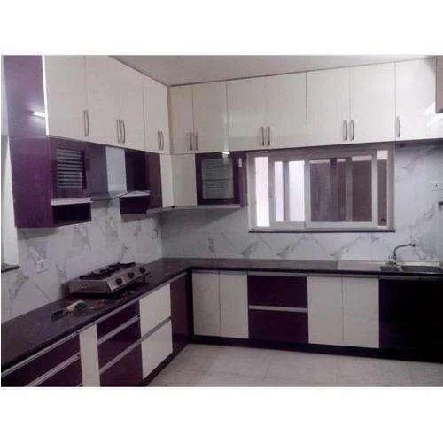 glossy finish pvc modular kitchen warranty 12 years rs