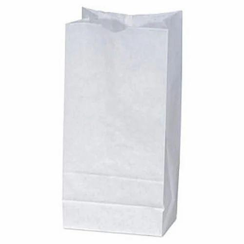 b97cb6d6ab5 W143107 White Paper Grocery Bag at Rs 125  kilogram