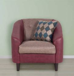 Mexico Single Seater Maroon Sofa